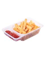 Barquette à frites avec compartiment à sauce I20020