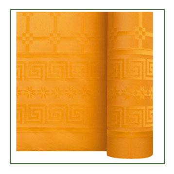 Nappe en papier damassé mandarine F50040MAN