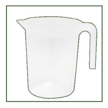 Carafe réutilisable en plastique incassable translucide 1,5 l