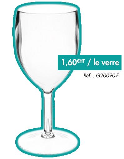 Verre à vin sur pied en Tritan incassable G20090