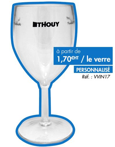 Verre à vin sur pied personnalisable 1 couleur en Tritan incassable VVIN17