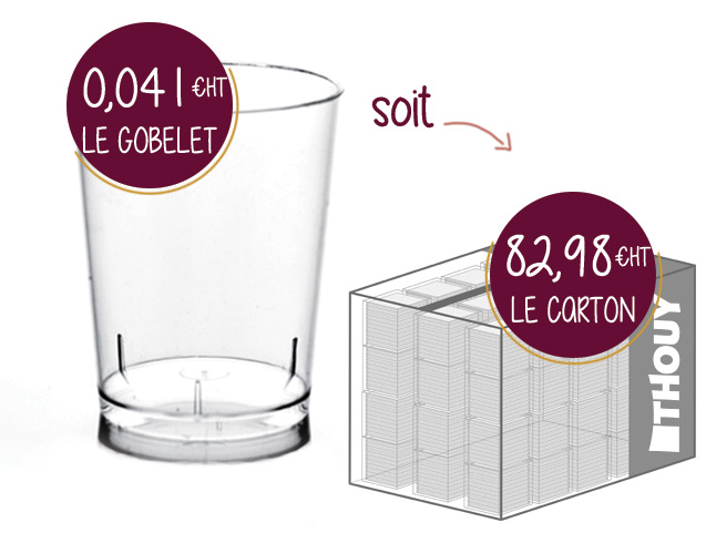 Offre spéciale carton : 2025 gobelets de dégustation G30007CAR