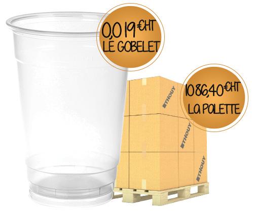 Offre spéciale palette : 56000 gobelets en plastique format bière G20013PAL