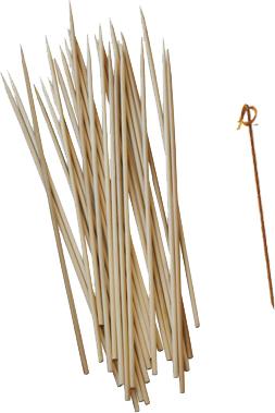Piques à brochettes en bois et bambou