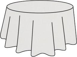 Nappe ronde intissé soft grise