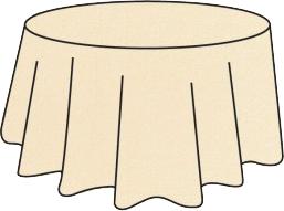 Nappe ronde intissé soft beige ivoire