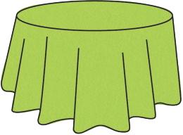 Nappe ronde intissé soft verte anis