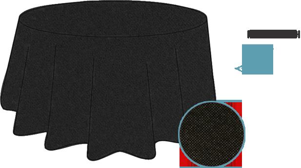 Nouvelle nappe ronde noire en Spunbond