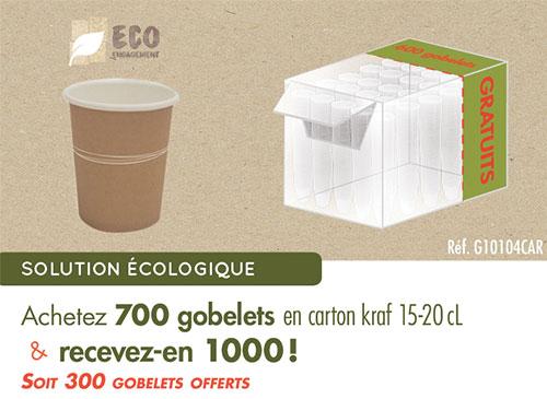Offre au carton : 1000 gobelets en carton blanc
