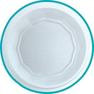 Mini assiette en plastique 12 cm de diamètre G10026