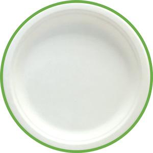 Assiette plate en fibres de canne à sucre G10064