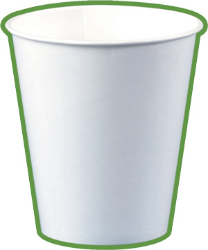 Gobelet en carton blanc écologique 10-12 cL