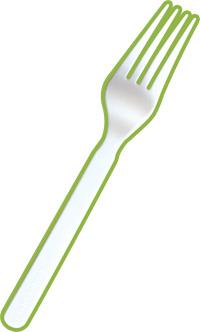 Fourchette en amidon végétal de mais CPLA G10111