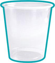 Gobelet en plastique transparent 10 cL G20003