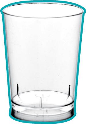Mini verre dégustation en platique injecté transparent G30001Y