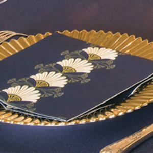 Serviette en intissé soft décor art déco 40 x 40 cm Françoise Paviot F20072ART