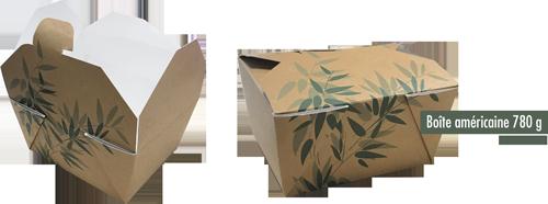 Boite américaine étanche en carton plastifié